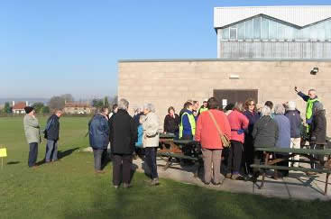 Photo of Nailsea strollers gathering at Grove Sports centre. Taken by Jack (12)