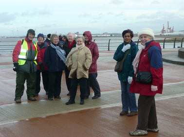 Portishead Strollers at the marina