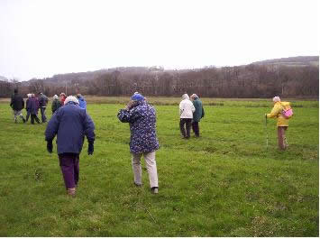 Photo of Winscombe Walkers on the snow drop walk